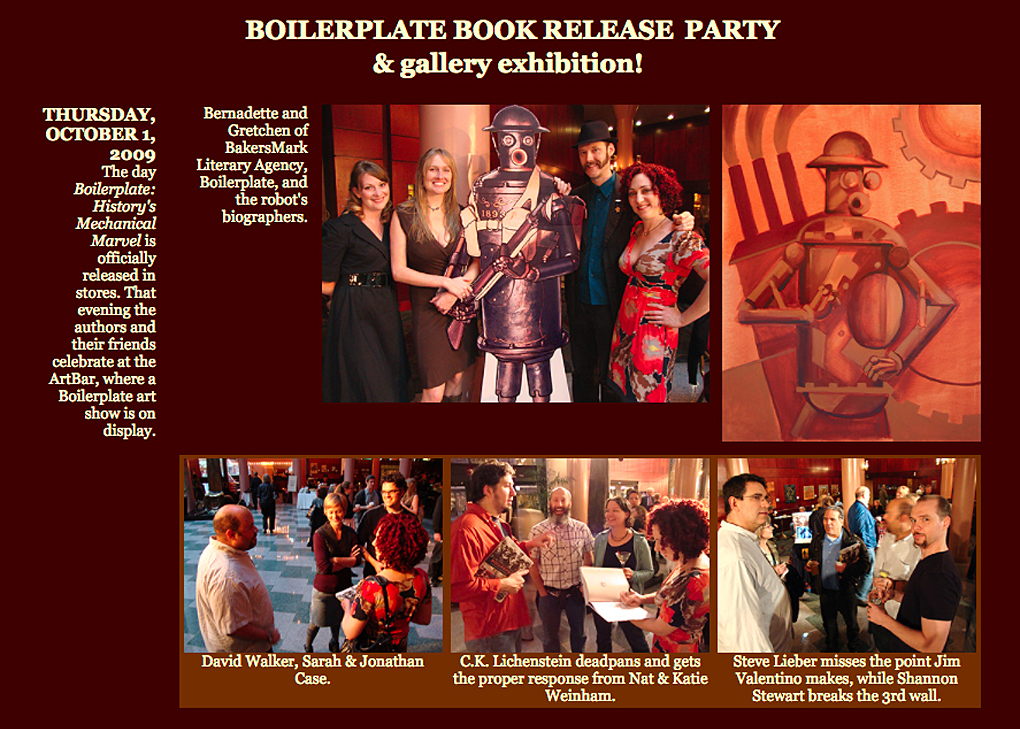 """Boilerplate: A Victorian Robot"" Gallery Show and Book Release"
