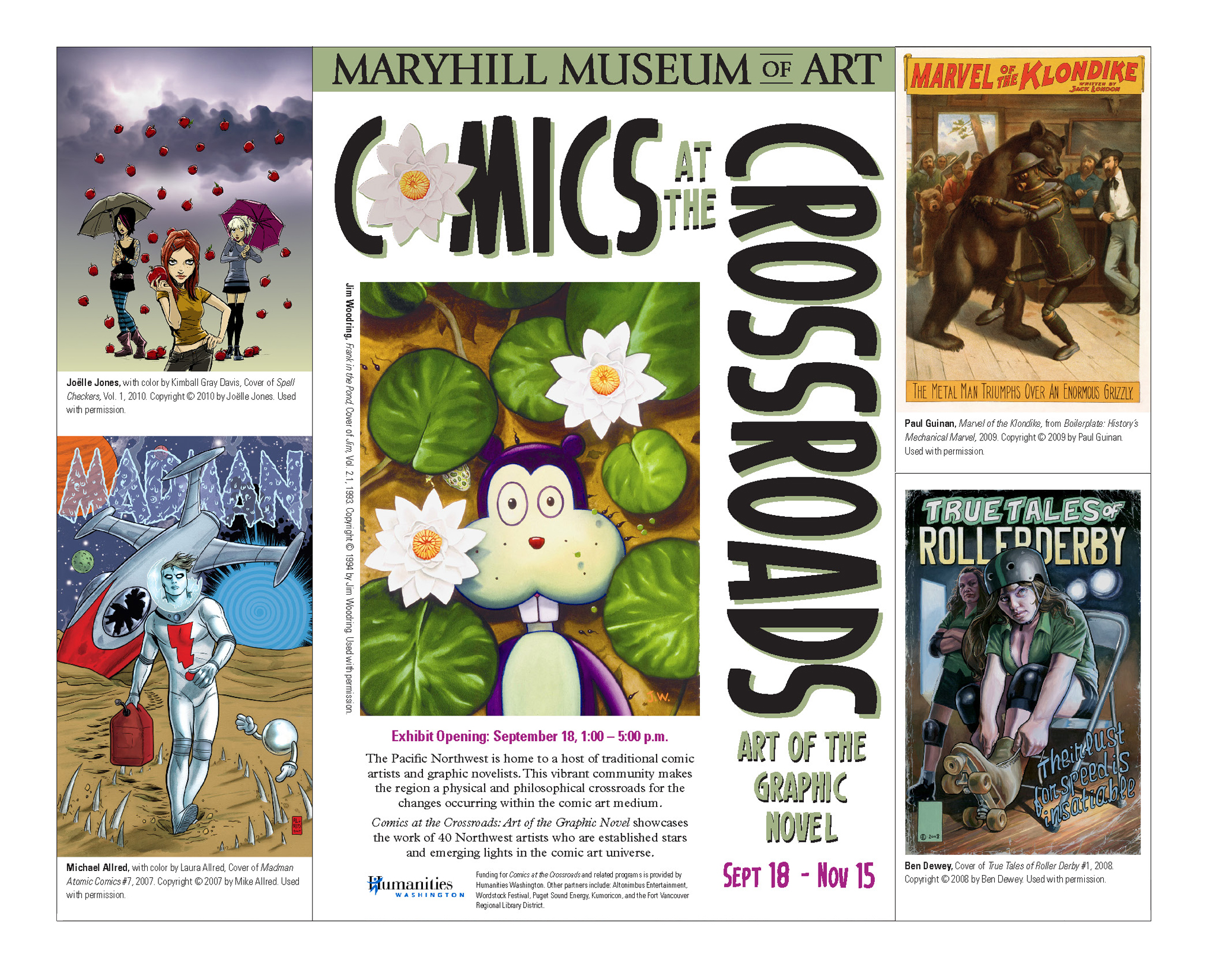 """Comics at the Crossroads: Art of the Graphic Novel"" Museum Exhibit"